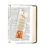 Dicksons, A Caring Heart Tassel Bookmark with Coin, 2 x 6 inches