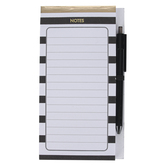 Mardel, Notes Pad with Pen Set, Black, White, Gold, 4.50 x 8 Inches