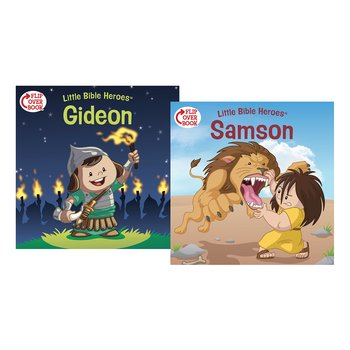 Little Bible Heroes,  Samson and Gideon, Flip-Over Book, by Victoria Kovacs, Paperback