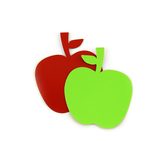 Renewing Minds, Double-Sided Mini Apple Cutouts, 3.5 x 4 Inches, Red and Green, 36 Count