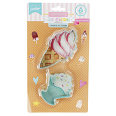 Handstand Kitchen, Ice Cream Parlor Cookie Cutter Set, 2 Pieces, Ages 6 & Older