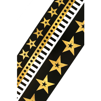 Glimmer of Gold Collection, Wide Double-Sided Border Trim, 38 Feet, Stars and Stripes