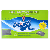 MyPillow, Roll and GoAnywhere Pillow, Frosted Gray, 12 x 18 Inches
