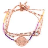 Modern Grace, Psalm 136:3 Spread Love Bracelet Set, Zinc Alloy, Rose Gold, Set of 3