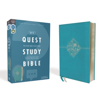 NIV Quest Study Bible, Imitation Leather, Turquoise