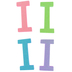 Glitter Foam Alphabet Letter Upper Case - I, 4 x 5.5 x .50 Inches, 1 Each, Assorted Colors