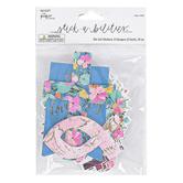 the Paper Studio, Stickabilities, Faith Floral Die-Cut Stickers, 3 Each of 8 Designs