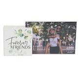 P. Graham Dunn, Forever Friends 4 x 6 Photo Frame, Green and White, 8.5 x 4 x 1.5 Inches