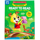 Scholastic, Early Learning: Ready to Read Activity Book, 256 Pages, Grades PreK-1
