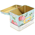 Petals & Blooms Recipe Box, Tin, Blue/Multi, 4 3/4 x 6 1/2 Inches
