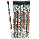 Wander Ridge Collection, Wood Pencil with Eraser, Camping Theme, Multi-Colored, 7.38 Inches, 1 Each