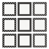 Creative Teaching Press, Pattern Cards Mini Designer Cut-Outs, 3 Inches, 36 Pieces