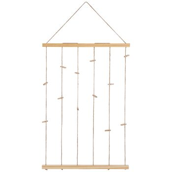 Fiddlestix Paperie, Wood Clip Wall Organizer,  37 x 19 5/8 Inches