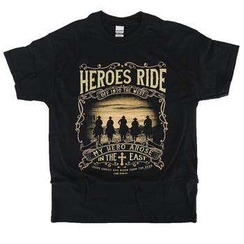 Kerusso, 1 Corinthians 15:20-22 Heroes Ride, Men's T-Shirt, Black, M-3XL