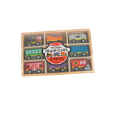 Melissa & Doug, Wooden Train Cars, 8 Pieces, Ages 3 and Older