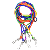 The Jewelry Shoppe, Rainbow Lanyards with Clips, 36 inches Each, Set of 5