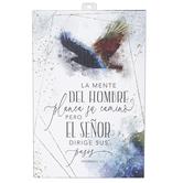 Dexsa, Proverbs 16:9 La Mente Del Hombre Plaque, MDF, 6 x 9 inches