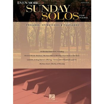 Even More Sunday Solos for Piano, by Hal Leonard, Songbook