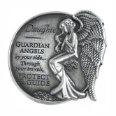 AngelStar, Daughter Guardian Angel Visor Clip, Nickel Free Zinc Alloy, 2.50 Inches