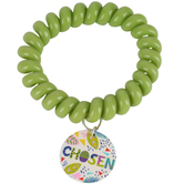 Glitter and Grace, Chosen Coil Bracelet, Lime Green