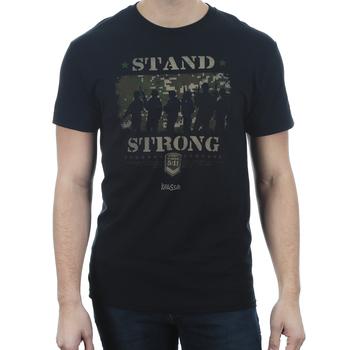 Kerusso, 1 Thessalonians 5:11 Stand Strong, Men's Short Sleeve T-shirt, Black, S-3XL