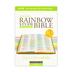 NIV Rainbow Study Bible, Imitation Leather, Purple, Floral Design