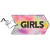 Retro Chic Collection, Girls Hall Pass, 3 x 6 Inches, Multi-Colored Ombre Pattern