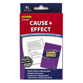 Edupress, Cause and Effect Reading Comprehension Practice Cards-Blue Level, 54 Cards, Reading Level 3.5-5.0