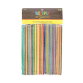 Woodpile Fun, Jumbo Craft Sticks, Assorted Colors, 75 Count
