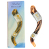Holy Land Gifts, Shofar Mezuzah, Brown/White, 7 Inches