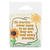 Universal Designs, Leviticus 3:22-23 His Mercies Sunshine Magnet, 3 x 3 inches