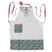 Kay Dee Designs, Love Grows Best In A Happy Home Apron, Cotton, Turquoise and Red, Adult Size