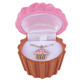 D.M. Merchandising, Children's Pink Cupcake Pendant Necklace with Gift Box, 16 Inches
