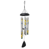 Carson Home Accents, Be Grateful Sunflower & Butterfly Wind Chime, 38 inches