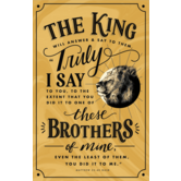 Salt & Light, Matthew 25:40 The King Will Answer Church Bulletins, 8 1/2 x 11 inches Flat, 100 Count