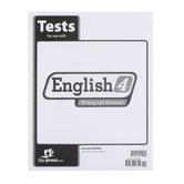 BJU Press, English 4 Tests (2nd Edition)