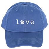 Open Road Brands, Love Paw Print Ball Cap, Blue and White, One Size Fits Most