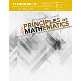 Master Books, Principles of Mathematics, Book 1, Teacher Guide, Paperback, 450 Pages, Grade 7