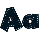 Teacher Created Resources, Stitch Letters, 4 inches, Black, 160 Pieces