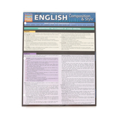 BarCharts, English Composition & Style Laminated Guide, 8.5 x 11 Inches, 6 Pages, Grades 5 and up