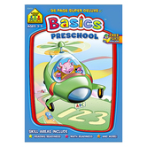 School Zone, Preschool Basics Workbook, Paperback, 96 Pages, Grades PreK-K