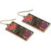 Bella Grace, Have Faith Floral Pattern Dangle Earrings, Zinc Alloy, Gold