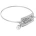 Bella Grace, Grace Wins, Wire Charm Bracelet, Silver-Tone, Zinc Alloy, 2 1/2 inch diameter