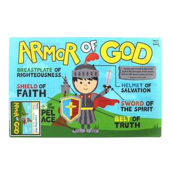 Salt & Light Kids, Armor of God Learning Mat, Plastic, 11 1/2 x 17 1/2 Inches, Ages 4 and up