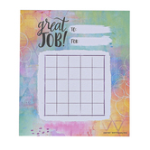 Retro Chic Collection, Customizable Mini Incentive Charts, 4.75 x 6 Inches, Multi-Colored, 36 Sheets