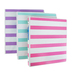Samsill, Striped 3-Ring Binder, Assorted Colors, 10 x 1 x 11 1/2 inches