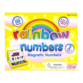 Junior Learning, Rainbow Numbers Magnetic Numbers, 155 Pieces, Ages 5-7