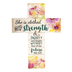 P. Graham Dunn, Proverbs 31:25 She Is Clothed Wall Cross, MDF, 14 x 10 inches