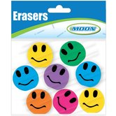 Moon Creative Products, Smiley Face Toppers, 1 Inch, Assorted, Pack of 8