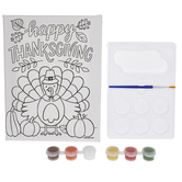 Brother Sister Design Studio, Fall Crafts Happy Thanksgiving Turkey Paint Kit, 9 Pieces